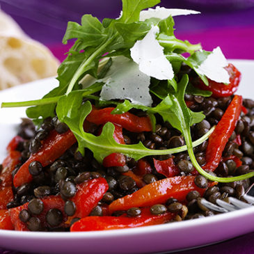 Linsen-Paprika-Salat