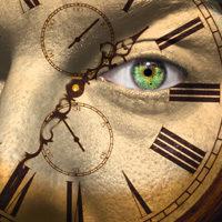 Uhr mit Auge