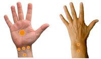 Hände mit Punkten