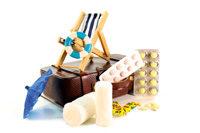 Koffer, Reisesymbole, Medikamente