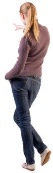 Stehende Frau, Rücken
