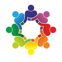 Menschen bilden Kreis