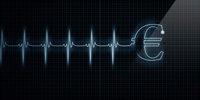 Diagram EKG endet in Euro-Zeichen