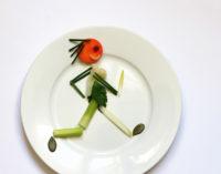 Teller mit Gemüsemännchen