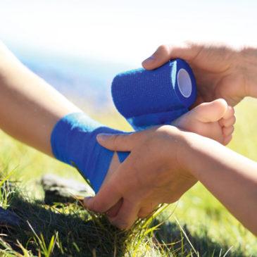 Rasche Erholung für verstauchten Fuß