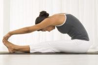 Frau Yoga-Übung