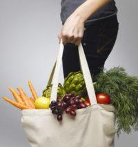 Einkaufstasche, Gemüse, Obst