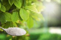 Eßlöffel mit Zucker, Stevia