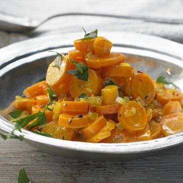 Aprikosen-Möhren-Soße mit Kokosreis